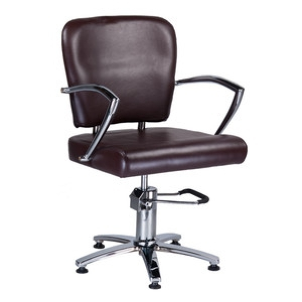 Fotel Fryzjerski Livio Brązowy BH-6369 #1