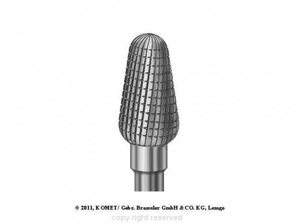 Frez Z Węglika Modelowanie Protezy, Wygładzanie Paznokcia (H351fsq.104.060) #1