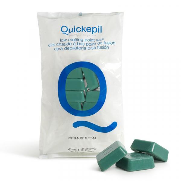 Quickepil Wosk Twardy Bezpaskowy Do Depilacji 1 Kg Zielony #1