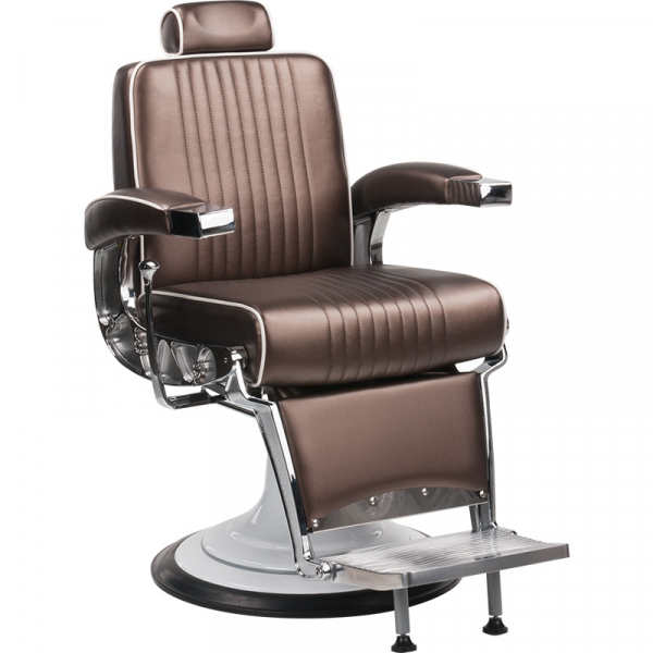 Fotel Fryzjerski Barber Stig Męski Brązowy #1