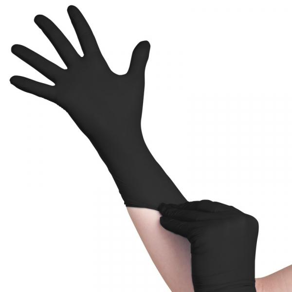 Jednorazowe Rękawiczki Black Nitrylowe Xs #1