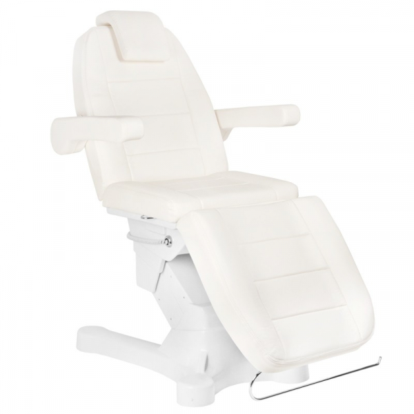 Fotel Kosmetyczny Elektr. A-207 White/Ivory (4 Silniki) #1