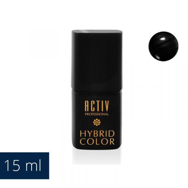 Lakier Hybryd UV LED 14 Smooth Black Czarny 15ml #1