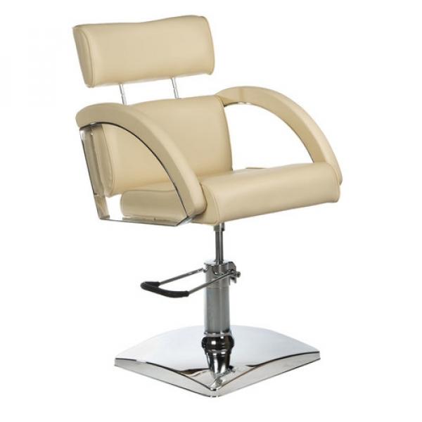 Fotel fryzjerski DINO kremowy BR-3920 #1