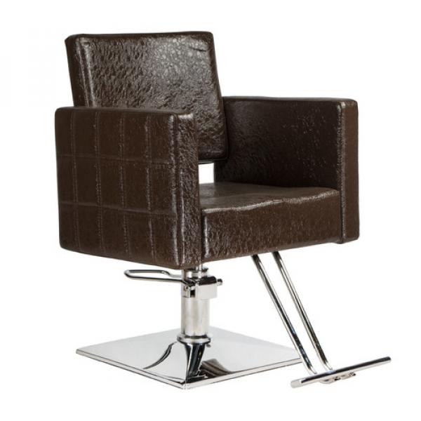 Fotel fryzjerski Leone brązowy BM-297 #1