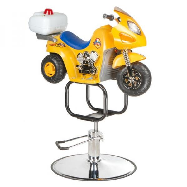 Dziecięcy fotel fryzjerski Moto BW-604 żółty #1