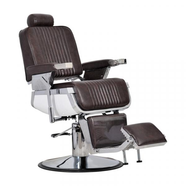 Fotel Fryzjerski Barber Brąz #1
