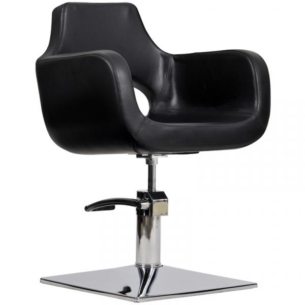 Fotel Fryzjerski Mediolan Czarny #1