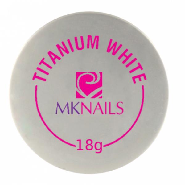 Mknails Żel jednofazowy titanium white, 18g #1