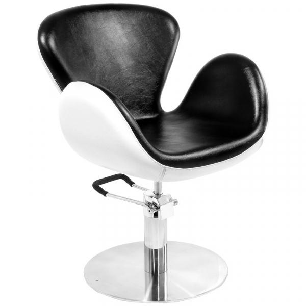 Gabbiano Fotel Fryzjerski Amsterdam Czarno-Biały #1