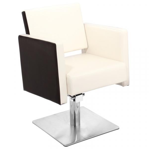 Gabbiano Fotel Fryzjerski Madryt Beżowo-Brązowy #1