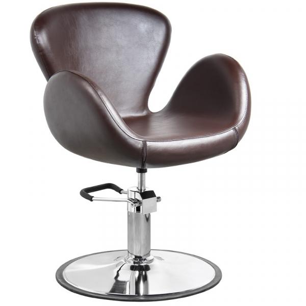 Gabbiano Fotel Fryzjerski Amsterdam Brązowy #1