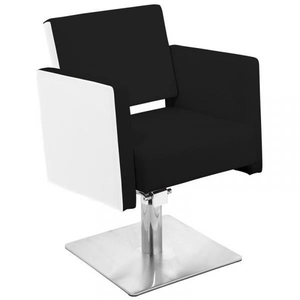Gabbiano Fotel Fryzjerski Madryt Czarno-Biały #1