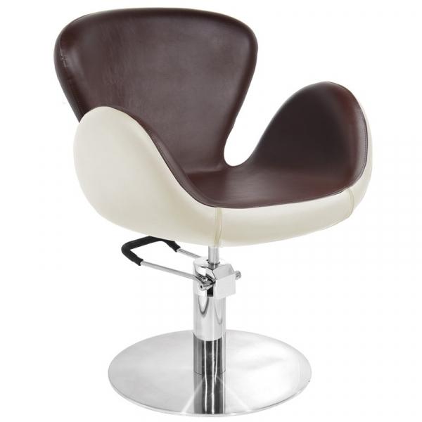 Gabbiano Fotel Fryzjerski Amsterdam Brązowo-Beżowy #1