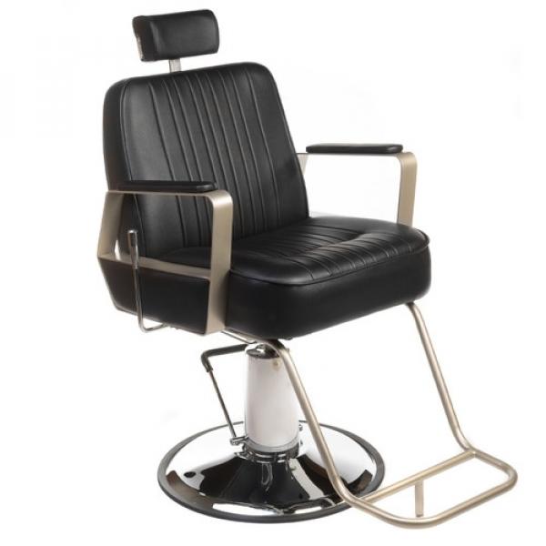 Fotel Barberski HOMER BH-31237 Czarny #1
