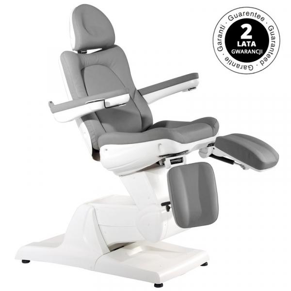 Fotel Kosmetyczny Elektr. Azzurro 870s Pedi 3 Siln. Szary #1