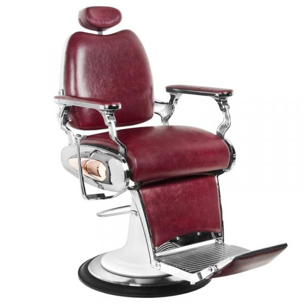 Gabbiano Fotel Barberski Moto Style Bordowy #1