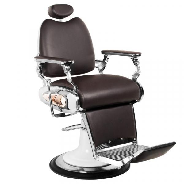 Gabbiano Fotel Barberski Moto Style Brązowy #1