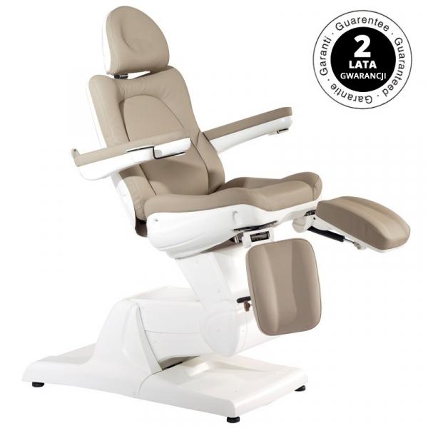 Fotel Kosmetyczny Elektr. Azzurro 870s Pedi 3 Siln. Cappuccino #1