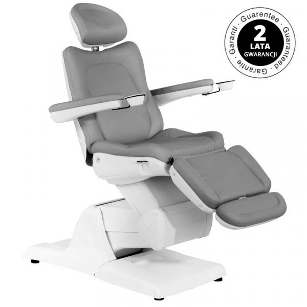 Fotel Kosmetyczny Elektr. Azzurro 870 3 Siln. Szary #1