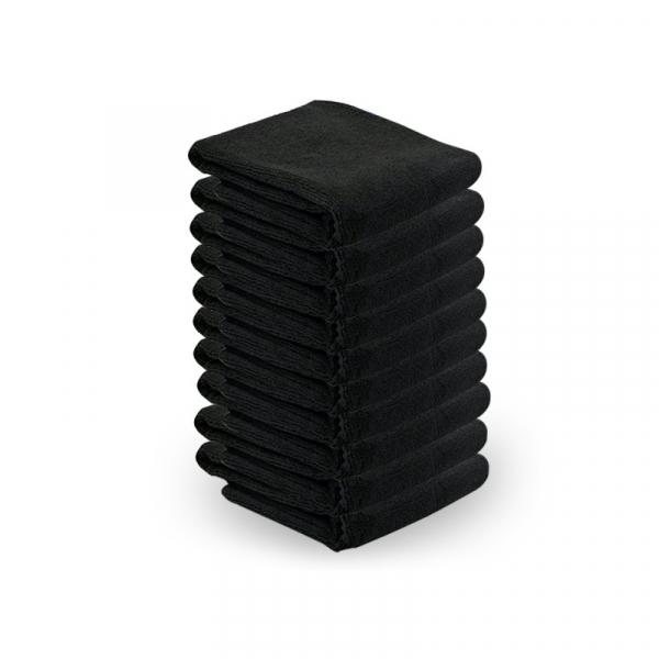 Ręcznik Z Microfibry 73x40cm 10szt Czarny #1