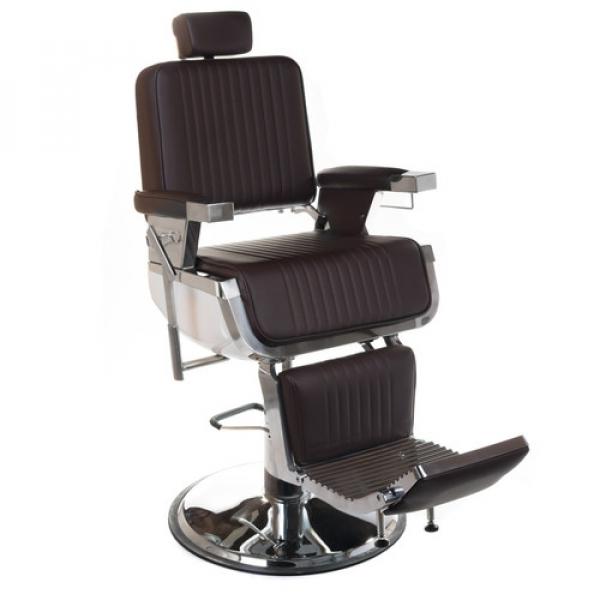Fotel Barberski Lumber BH-31823 Brązowy #1