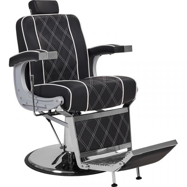 Fotel Fryzjerski Barber Borg Męski Czarny W 48h #1