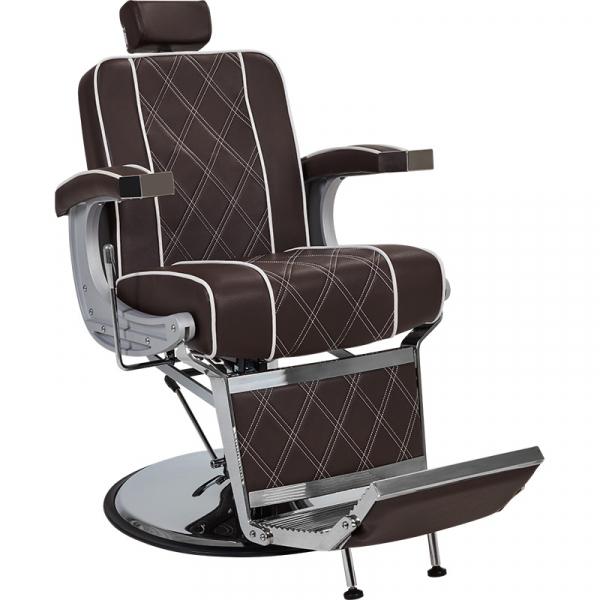 Fotel Fryzjerski Barber Borg Męski Brązowy W 48h #1