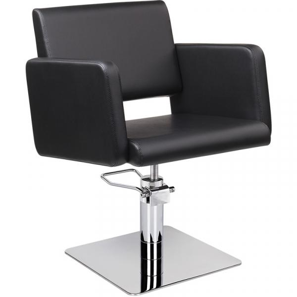 Fotel Fryzjerski Lea Czarny Baza Kwadrat W 48h #1
