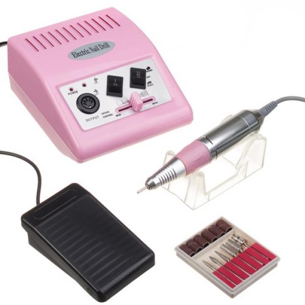 Frezarka Do Manicure JD500 Różowa + Zestaw Frezów #1