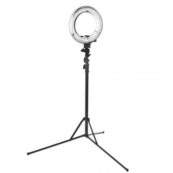 """Lampa Pierścieniowa Ring Light 12"""" 35W Fluorescent Czarna + Statyw #1"""