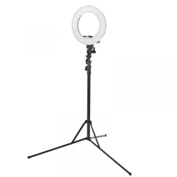 """Lampa Pierścieniowa Ring Light 12"""" 35W Led Czarna + Statyw #1"""
