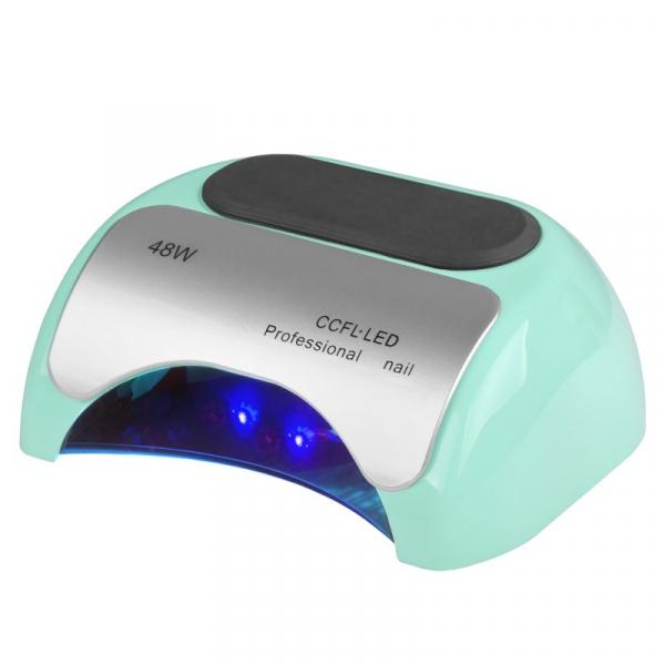 Lampa Professional 2w1 UV LED+CCFL 48W Timer+Sensor Miętowa #1
