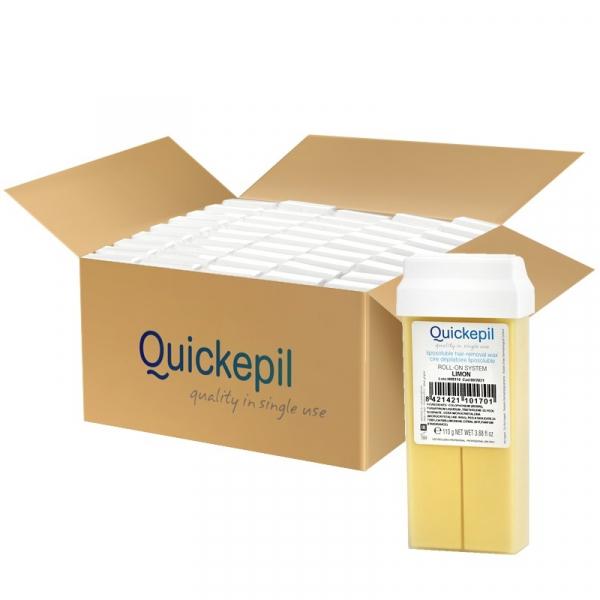 Quickepil 50 Szt. Wosk Do Depilacji Rolka Lemon, 110 g #1