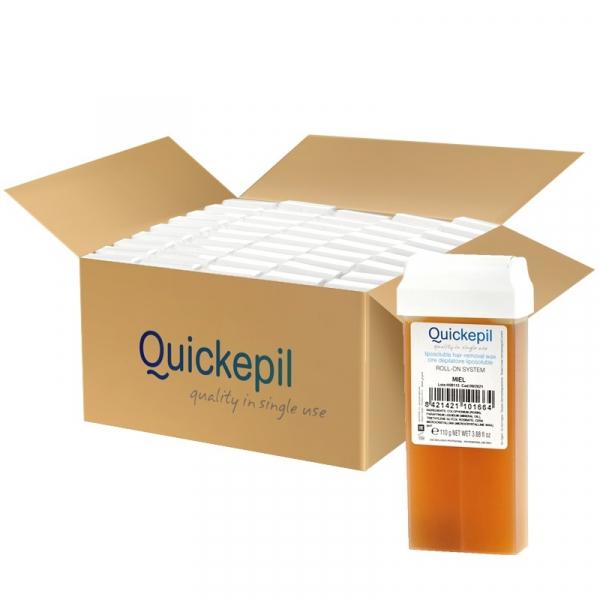 Quickepil 50 Szt. Wosk Do Depilacji Rolka Natural, 110 g #1