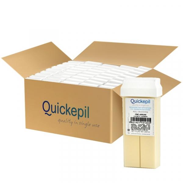 Quickepil 50 Szt. Wosk Do Depilacji Rolka Zink-Argan, 110 g #1