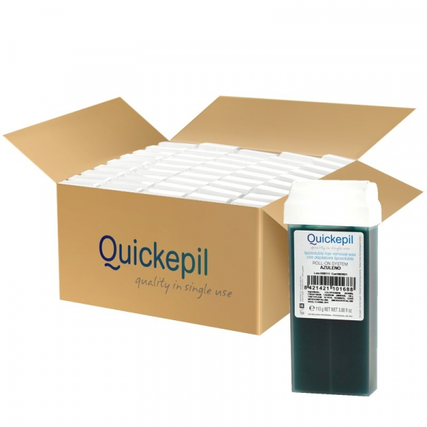 Quickepil 50 Szt.Wosk Do Depilacji Rolka Azulen, 110 g #1