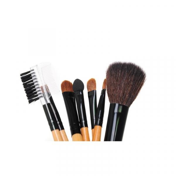 Zestaw Pędzli Do Makijażu 7 Elementów Czarne Etui #1