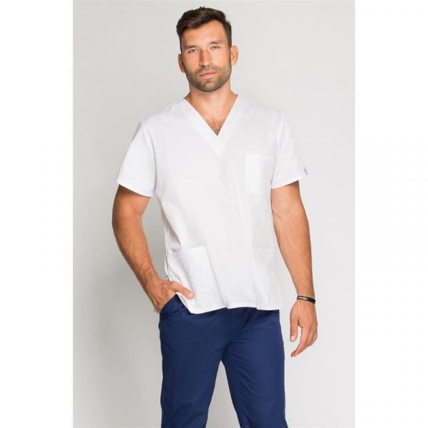 Bluza Medyczna Męska Biała, Rozmiar M #1