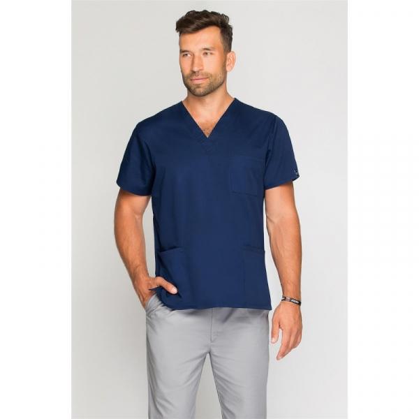 Bluza Medyczna Męska Granatowa, Rozmiar L #1