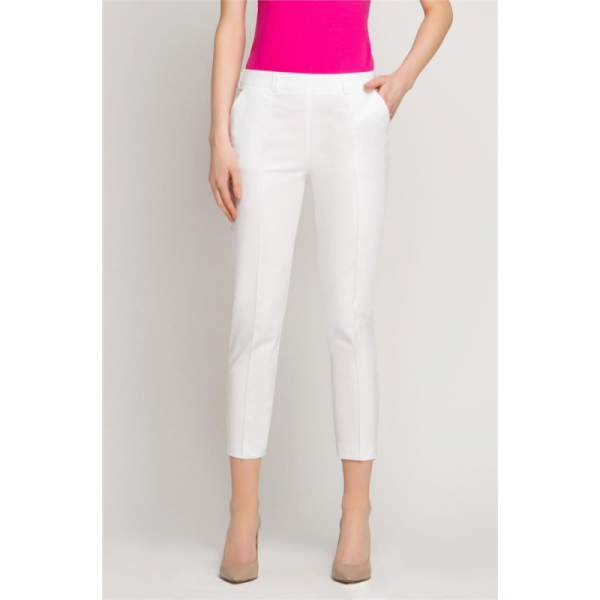 Spodnie Kosmetyczne Cygaretki Białe, Rozmiar 42 #1
