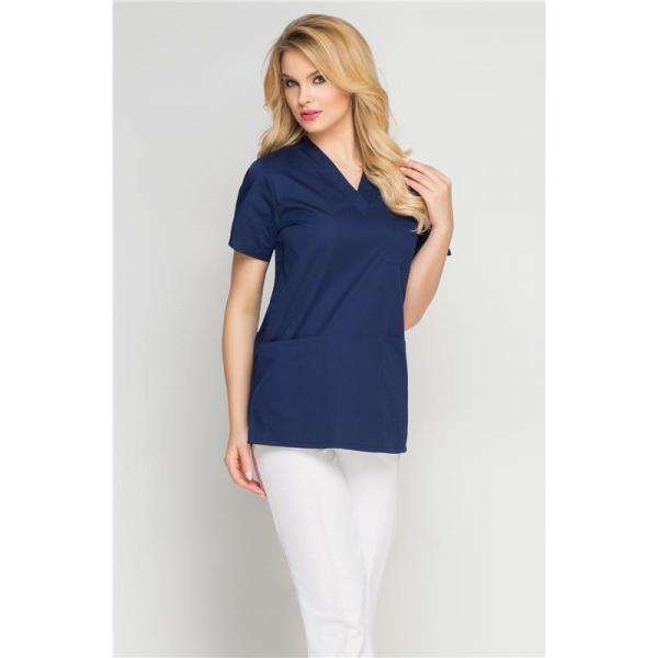 Bluza Medyczna Damska Granatowa, Rozmiar L #1