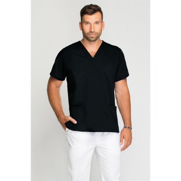 Bluza Medyczna Męska Czarna, Rozmiar M #1
