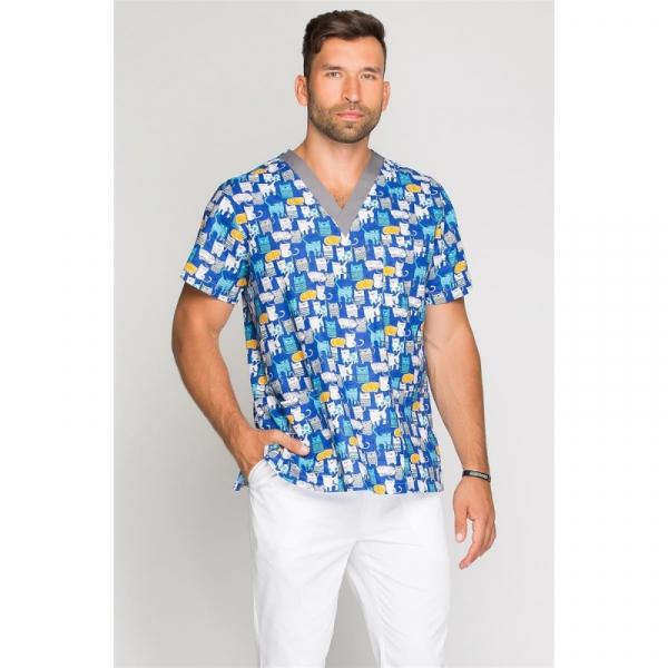 Bluza Medyczna Męska Kocia Ferajna, Rozmiar S #1