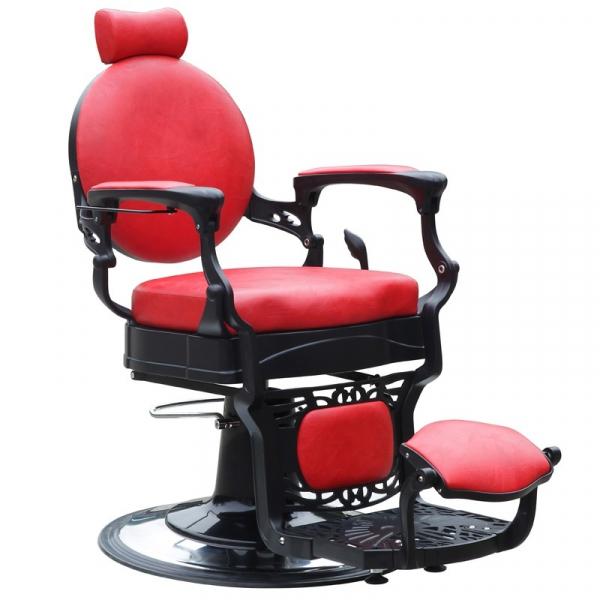 Gabbiano Fotel Barberski President Czerwony #1