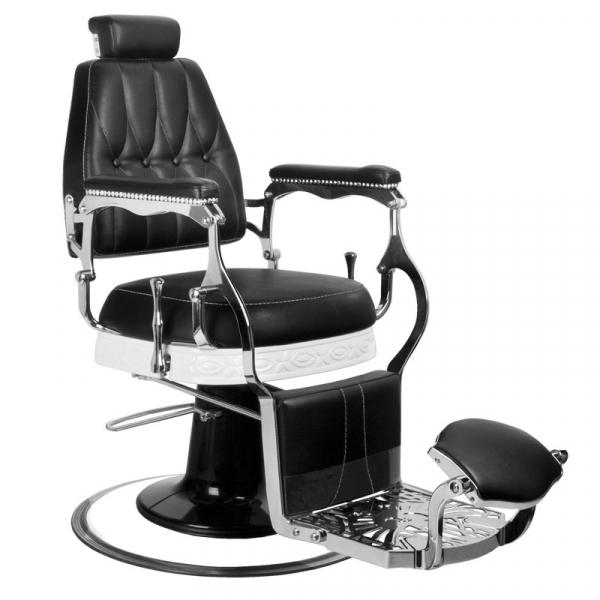 Gabbiano Fotel Barberski Lord Czarny #1