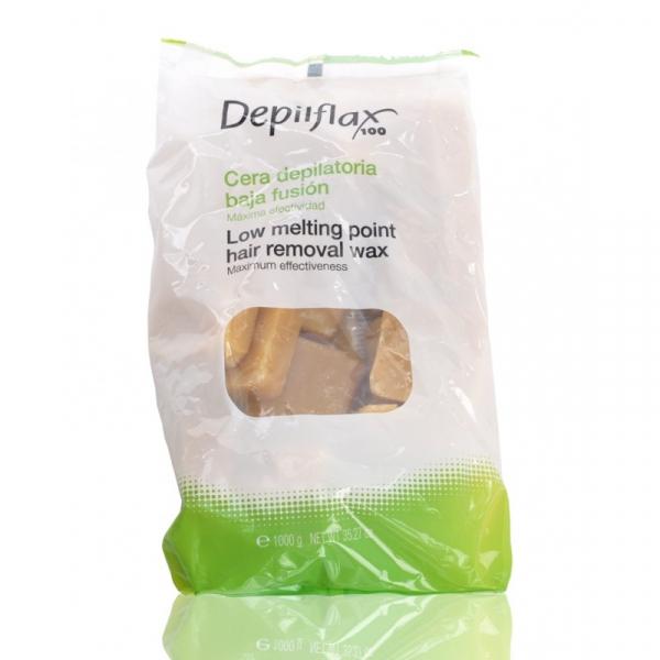 Depilflax Wosk Twardy Bezpaskowy Do Depilacji 1kg Naturalny #1