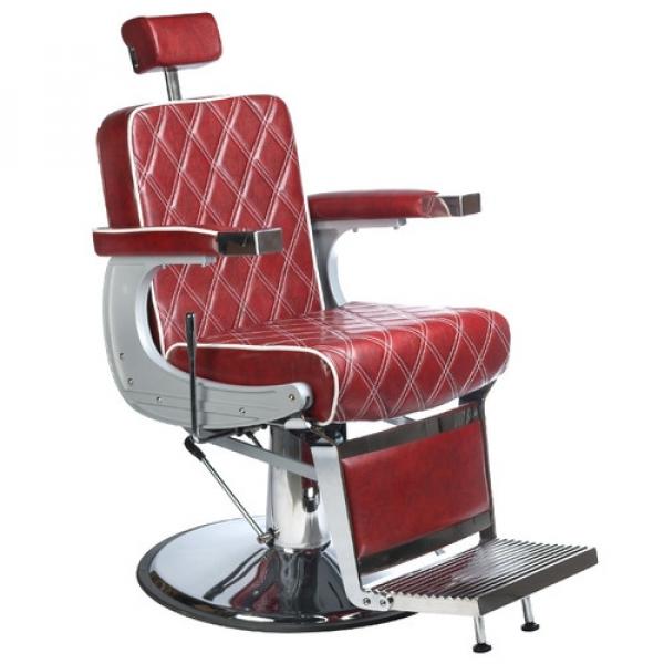 Fotel Barberski LUMBER BH-31825 Burgund LUX #1