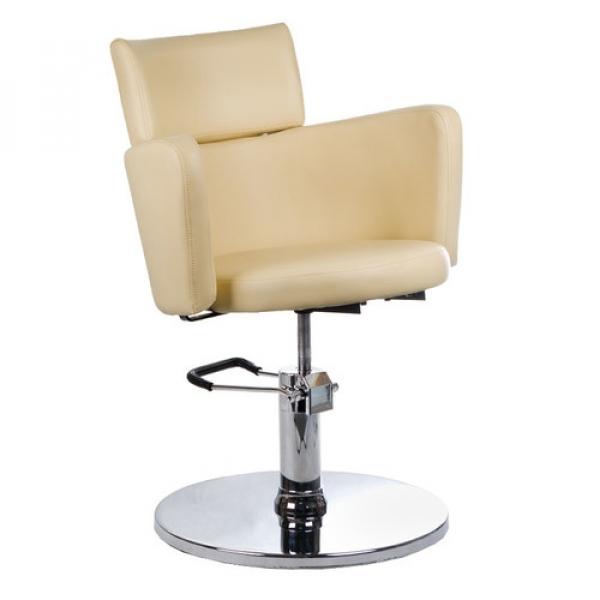 Fotel Fryzjerski LUIGI BR-3927 Kremowy #1