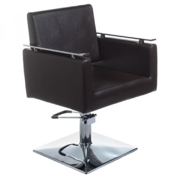 Fotel Fryzjerski MILO BH-6333 Brązowy #1
